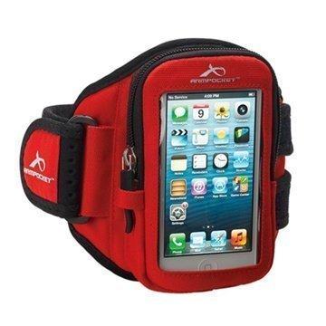 iPhone 5C Armpocket i-10 Käsivarsihihna S Punainen