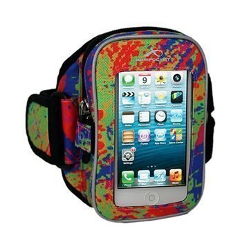 iPhone 5C Armpocket i-25 Käsivarsikotelo M Väriroiskeet
