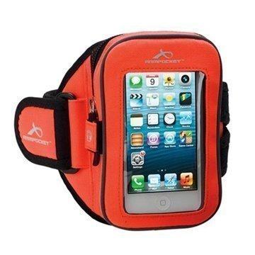 iPhone 5C Armpocket i-25 Käsivarsikotelo S Oranssi