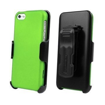 iPhone 5C Beyond Cell 3in1 Combo Case Green / Black