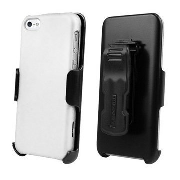 iPhone 5C Beyond Cell 3in1 Combo Case White / Black
