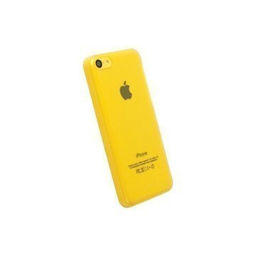 iPhone 5C Krusell FrostCover Faceplate Transparent Yellow