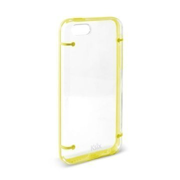 iPhone 5C Ksix Edge Case Transparent / Yellow