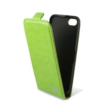 iPhone 5C Ksix Flip Leather Case Green