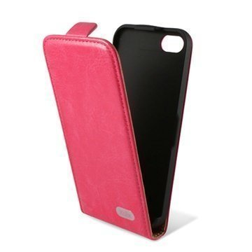 iPhone 5C Ksix Flip Leather Case Pink