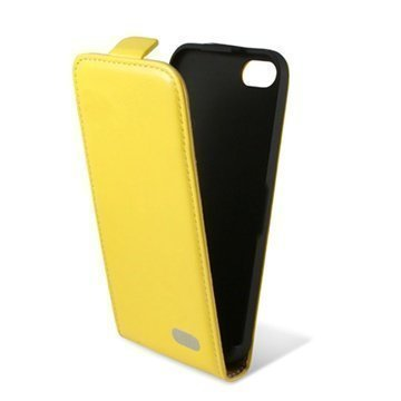 iPhone 5C Ksix Flip Leather Case Yellow