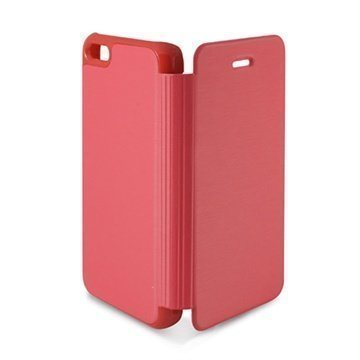 iPhone 5C Ksix Foliokotelo- Vaaleanpunainen