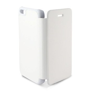 iPhone 5C Ksix Foliokotelo- Valkoinen
