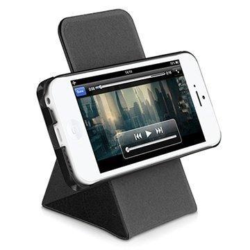 iPhone 5C Macally Shellstand Seisontatukikotelo Musta
