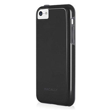 iPhone 5C Macally TPU-Kotelo Musta