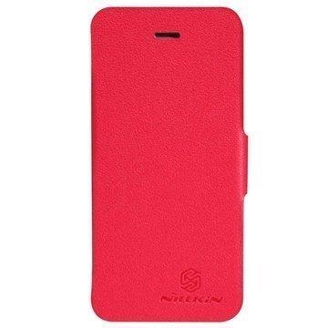 iPhone 5C Nillkin Fresh Series Läpällinen Nahkakotelo Punainen