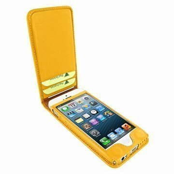 iPhone 5C Piel Frama Classic Magnetic Nahkakotelo Keltainen