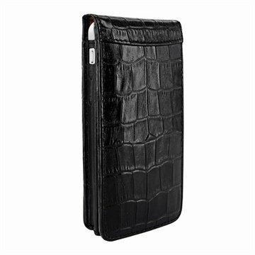 iPhone 5C Piel Frama Classic Magnetic Nahkakotelo Krokotiili Musta