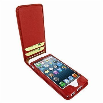 iPhone 5C Piel Frama Classic Magnetic Nahkakotelo Punainen