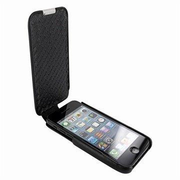 iPhone 5C Piel Frama Imagnum Nahkakotelo Musta
