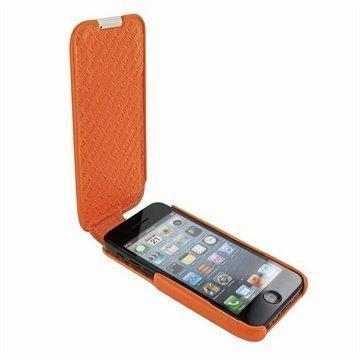 iPhone 5C Piel Frama Imagnum Nahkakotelo Oranssi