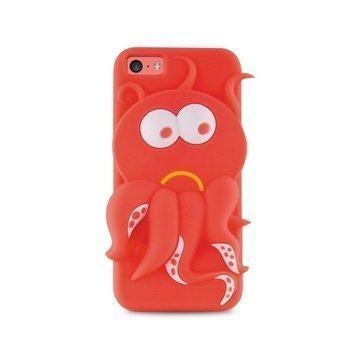 iPhone 5C Puro 3D Mustekala Silikonikotelo Pinkki