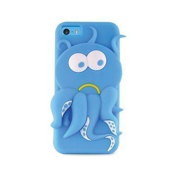iPhone 5C Puro 3D Octopus Silicone Case Blue