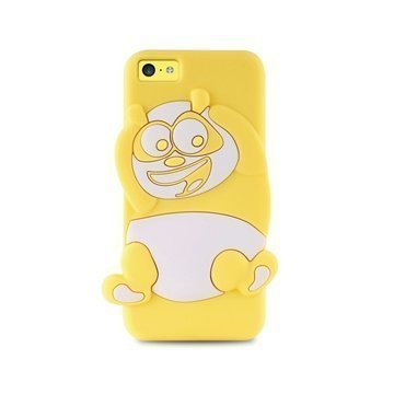 iPhone 5C Puro 3D Panda Silicone Case Yellow
