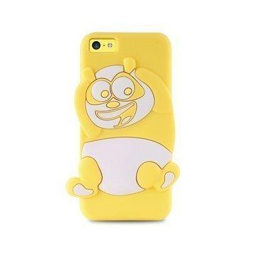 iPhone 5C Puro 3D Panda Silicone Case Yellow