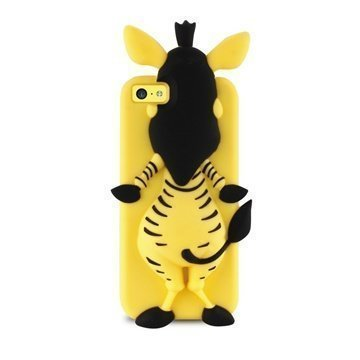 iPhone 5C Puro 3D Zebra Silicone Case Yellow
