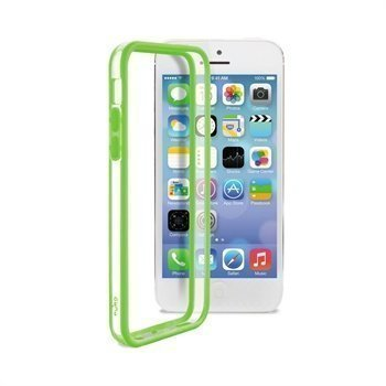 iPhone 5C Puro Bumper Transparent / Green