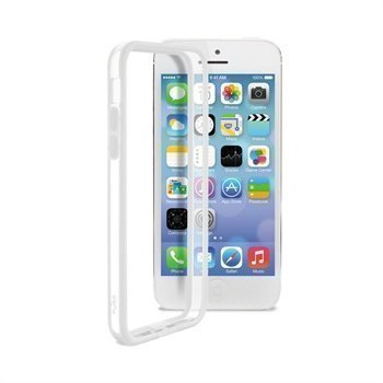 iPhone 5C Puro Bumper Transparent / White