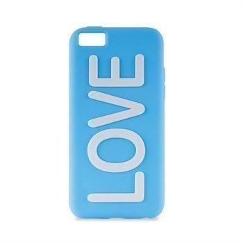 iPhone 5C Puro Love Silikonikotelo Sininen