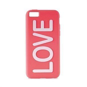 iPhone 5C Puro Love Silikonikotelo Vaaleanpunainen