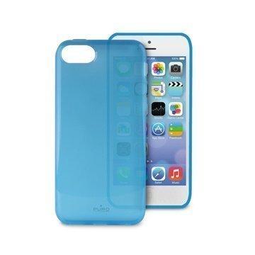 iPhone 5C Puro Plasma Silikonikotelo Läpinäkyvä Sininen