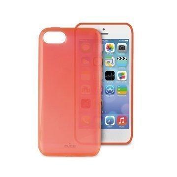 iPhone 5C Puro Plasma Silikonikotelo Läpinäkyvä Vaaleanpunainen