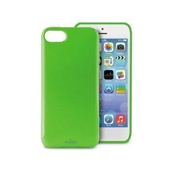 iPhone 5C Puro Plasma Silikonikotelo Läpinäkyvä Vihreä