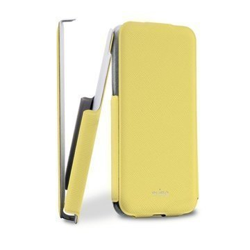 iPhone 5C Puro Ultra Slim Flip Leather Case Yellow