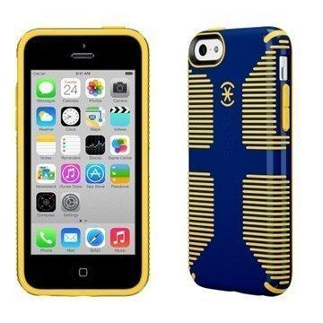 iPhone 5C Speck CandyShell Grip Suojakuori Kadetinsininen / Keltainen