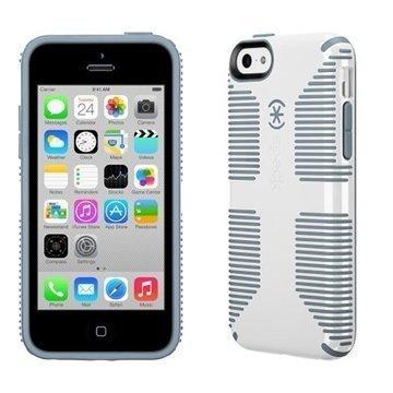 iPhone 5C Speck CandyShell Grip Suojakuori Valkoinen / Soranharmaa