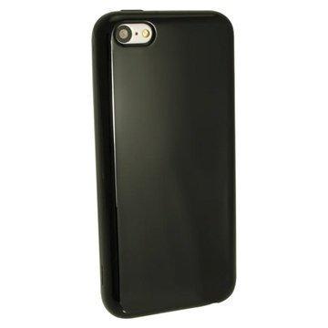 iPhone 5C iGadgitz Crystal TPU-Kotelo Musta