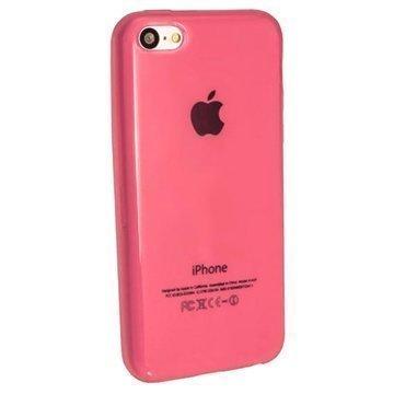 iPhone 5C iGadgitz Crystal TPU-Kotelo Pinkki