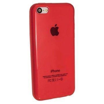 iPhone 5C iGadgitz Crystal TPU-Kotelo Punainen