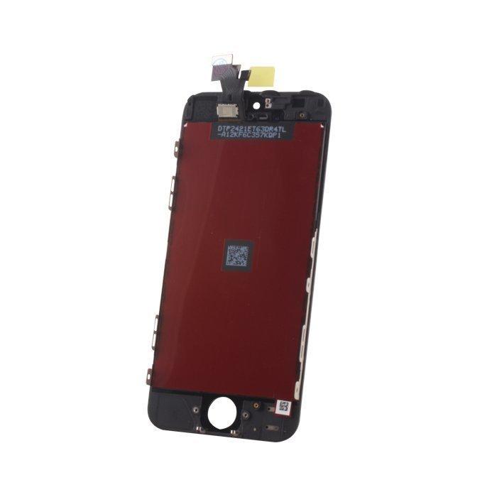 iPhone 5S LCD-näyttö + kosketuspaneeli Musta