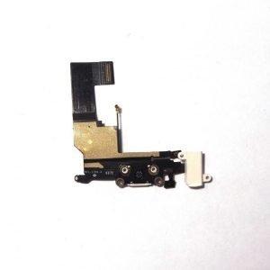 iPhone 5S Latausportti flex-kaapeli + kuulokeliitäntä + mikrofoni Valkoinen