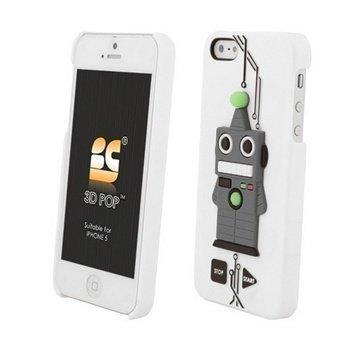 iPhone 5S iPhone SE Beyond Cell 3D Pop Robotti Suojakuori Valkoinen
