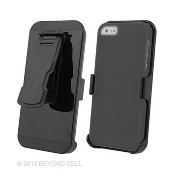 iPhone 5S iPhone SE Beyond Cell 3in1 Combo Case Grey / Black