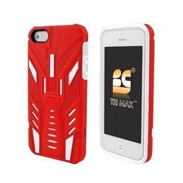 iPhone 5S iPhone SE Beyond Cell Tri Max Kotelo Punainen / Valkoinen