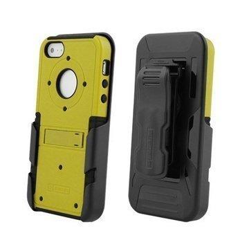 iPhone 5S iPhone SE Beyond Cell Tri Shield Hybridikotelo Keltainen / Musta