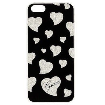 iPhone 5S/SE Guess Hearts Case Black