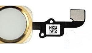 iPhone 6 / 6 Plus Home-nappi + kaapeli + kumitarra Kulta