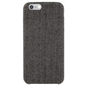 iPhone 6 / 6S 4smarts Killarney Puuvillapäällysteinen Kova Suojakuori Musta