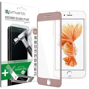 iPhone 6 / 6S 4smarts Second Glass Plus Näytönsuoja Ruusukulta