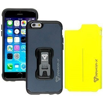 iPhone 6 / 6S Armor-X CX-i6-BLYL Rugged Switch-Cover Suojakuori Tummansininen / Keltainen