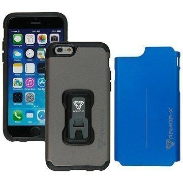 iPhone 6 / 6S Armor-X CX-i6-GYBL Rugged Vaihtokuorellinen Suojakuori Harmaa / Sininen
